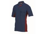 Afbeelding van Jong Shirt polo Tricorp navy/rood installatie