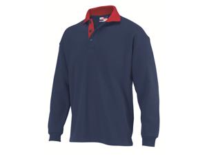 Afbeelding van Jong Shirt polosweater Rom88 navy/rood installatie